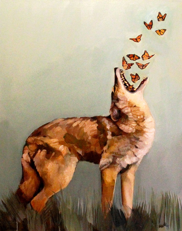 coyote-and-butterflies